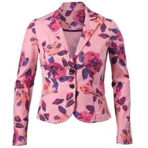 CAbi floral rose garden pink blazer 804 Sz 8